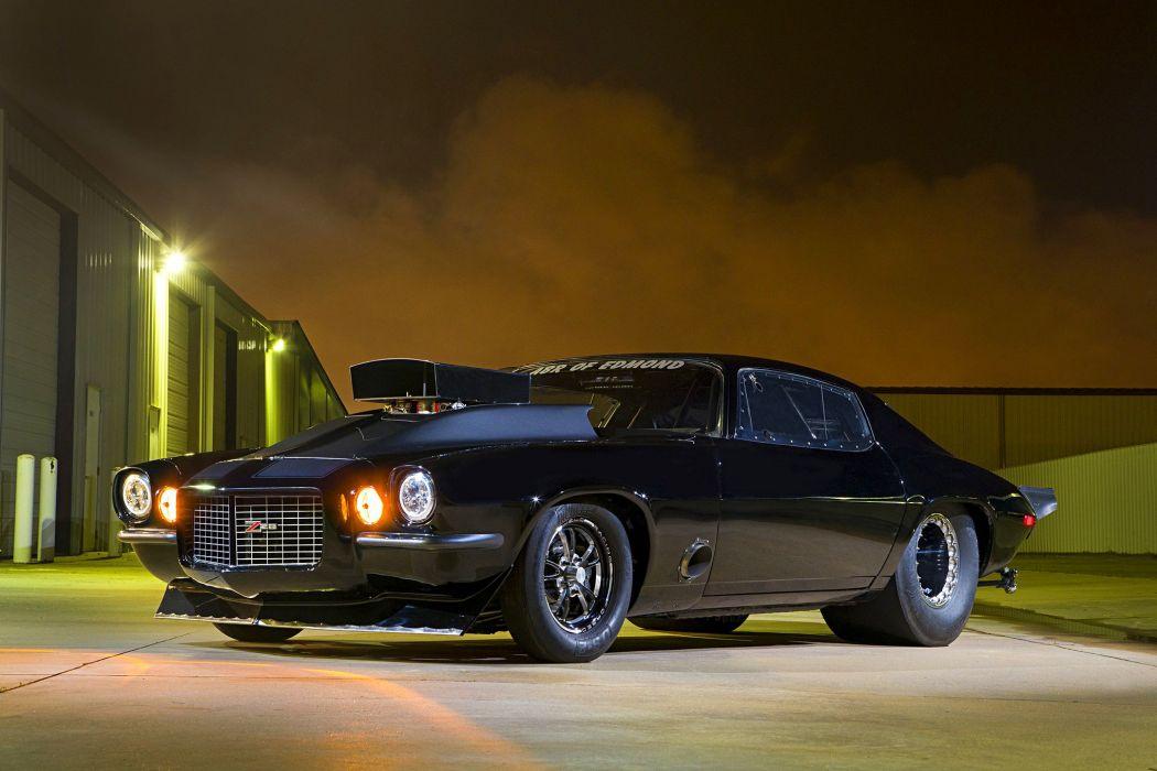 1972 chevy Camaro cars black modified wallpaper