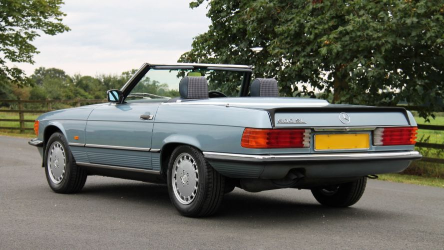 Mercedes Benz 500-SL UK-spec (R107) cars convertible 1986 wallpaper