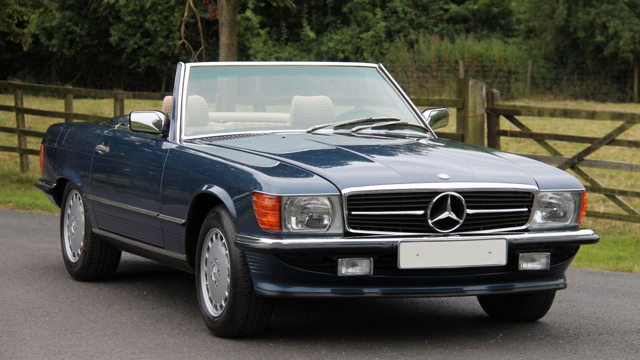 Mercedes Benz 300-SL (R107) cars convertible 1985 wallpaper
