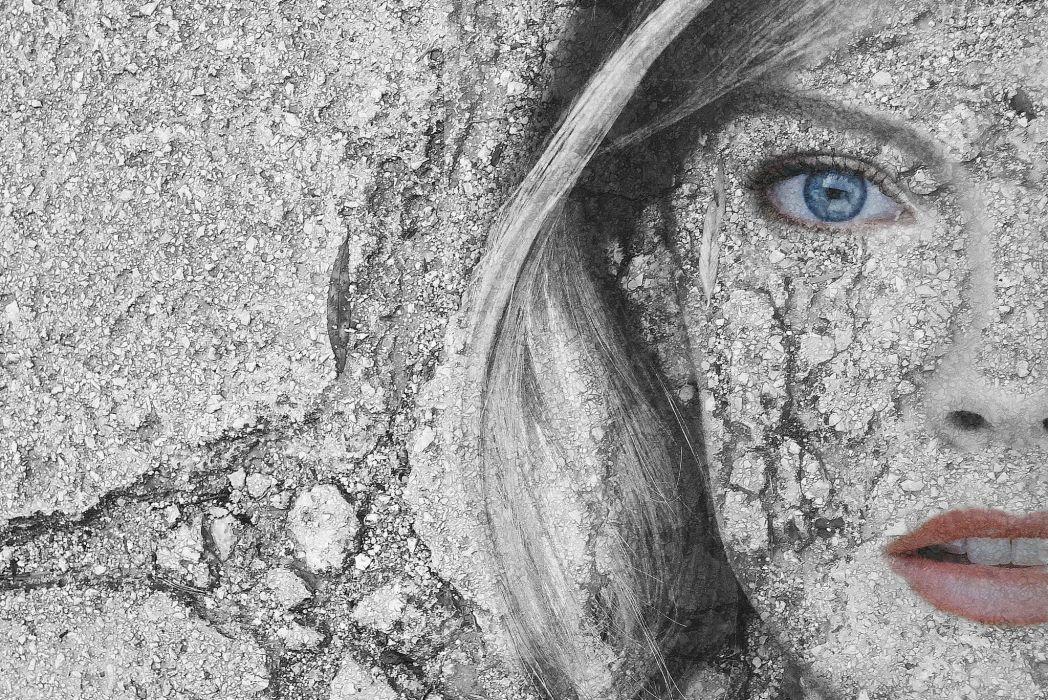 abstracto textura rostro mujer pared wallpaper