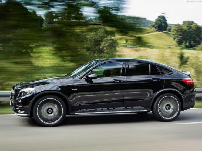 2016 Mercedes Benz GLC43 AMG 4Matic cars suv black Coupe wallpaper