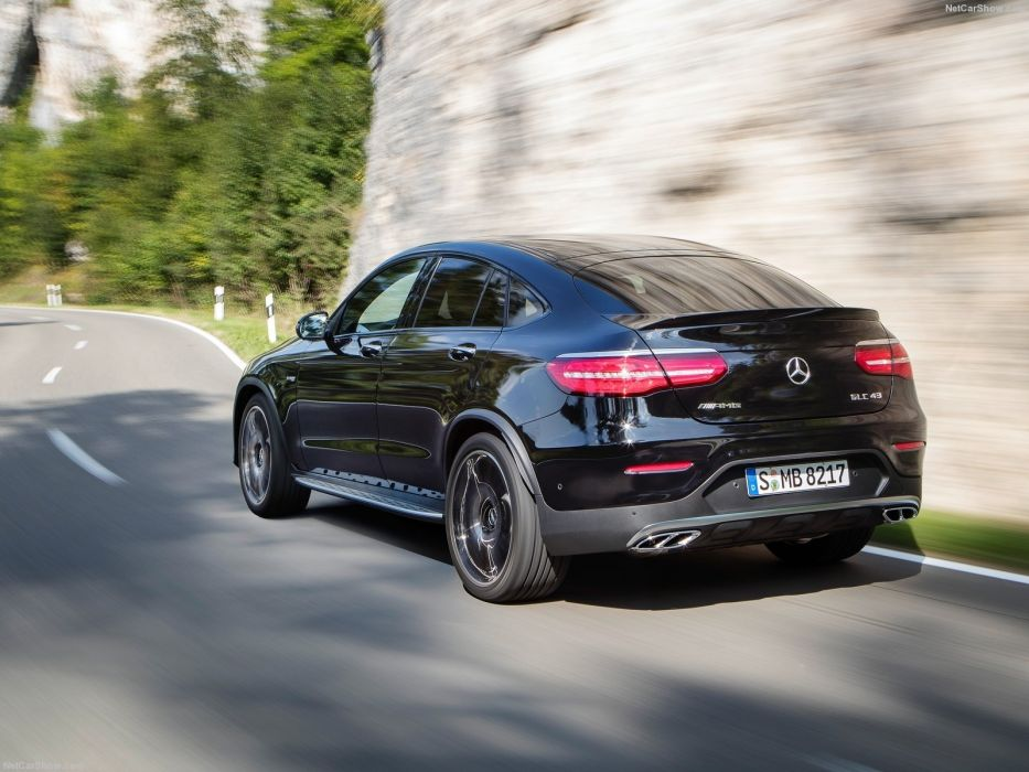2016 Mercedes Benz GLC43 AMG 4Matic cars suv black Coupe wallpaper