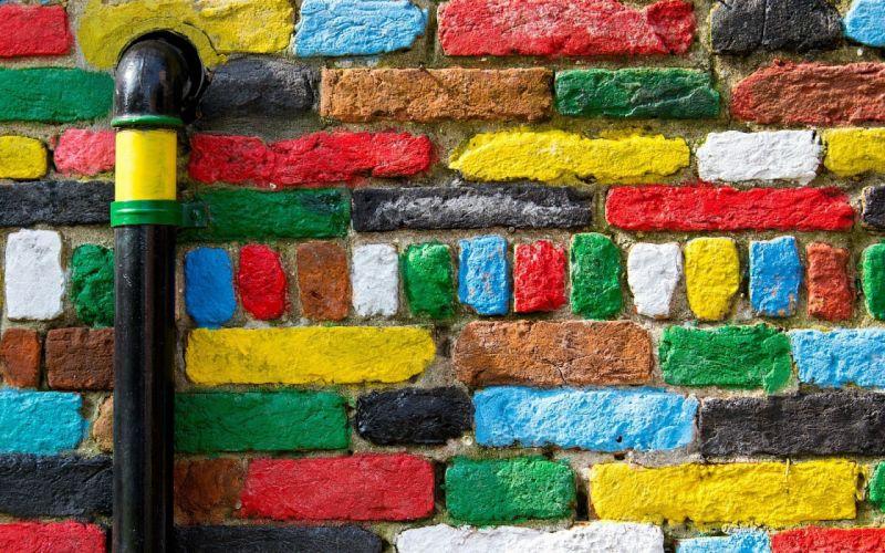 abstracto textura pared ladrillos colores wallpaper