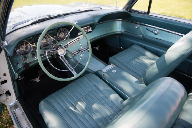 1962 Ford Thunderbird Convertible cars white classic interior wallpaper