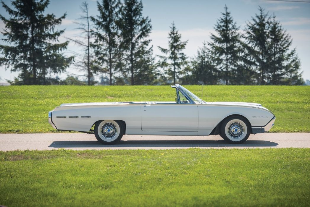1962 Ford Thunderbird Convertible cars white classic  wallpaper