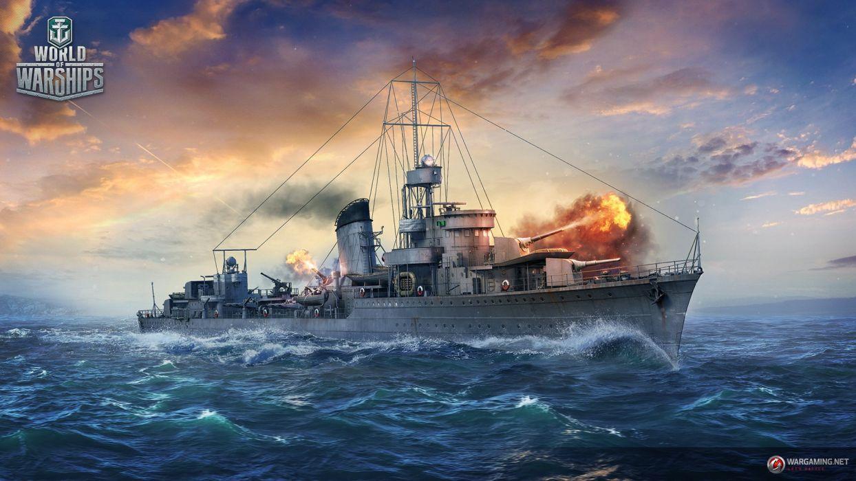 World Of Warships Game War Military Video Wwll Battleship Ship
