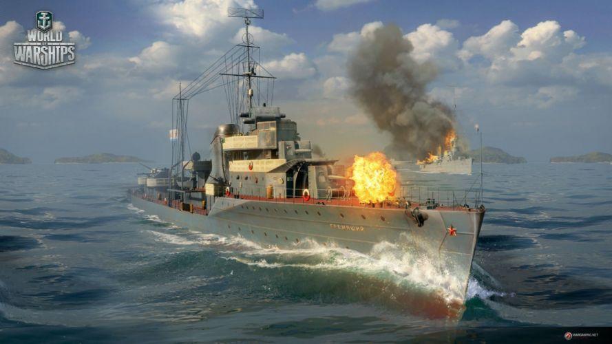 WORLD Of WARSHIPS game war military video wwll battleship ship boat warship action fighting shooter simulation online mmo strategy 1wwar battle wallpaper