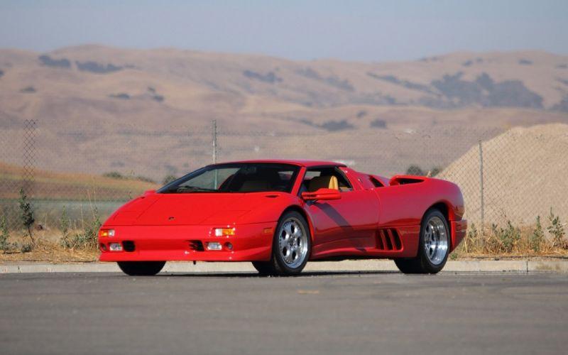 1997 Lamborghini Diablo VT Roadster Smalto Rosso cars supercars red wallpaper