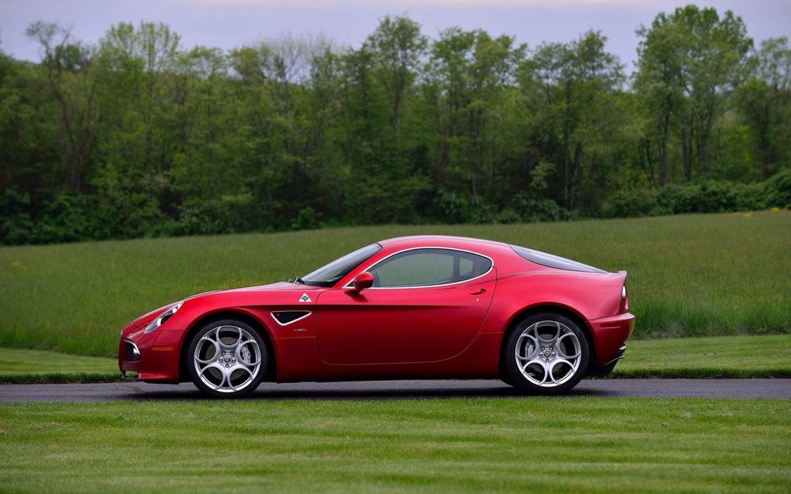 2008 Alfa Romeo 8C Competizione cars coupe red wallpaper