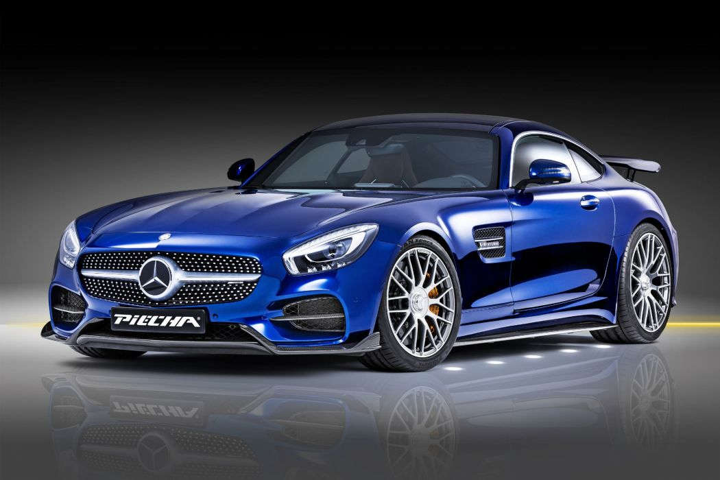 mercedes Piecha AMG GT RSR cars blue modified wallpaper