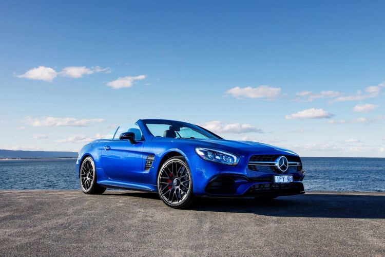 Mercedes AMG SL63 AU-spec (R231) cars blue roadster 2016 wallpaper