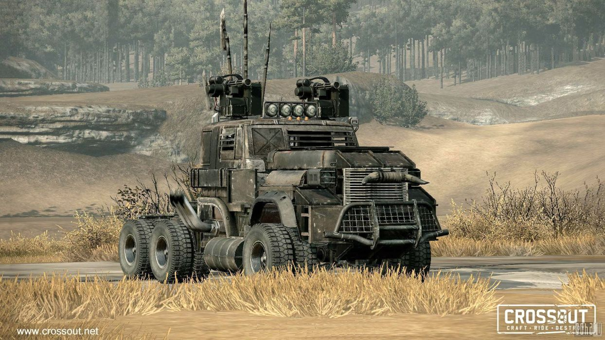 CROSSOUT game sci-fi technics science fiction futuristic apocalyptic post mmo online action fighting 4x4 offroad race racing cyberpunk battle combat alien military battle war wallpaper