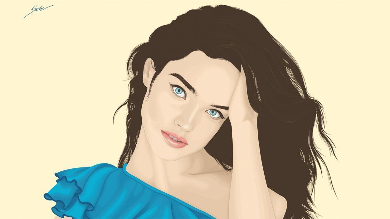 abstracto vector rostro mujer wallpaper