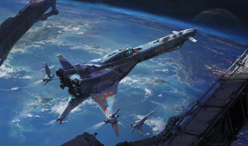 spaceships space aircrafts wallpaper