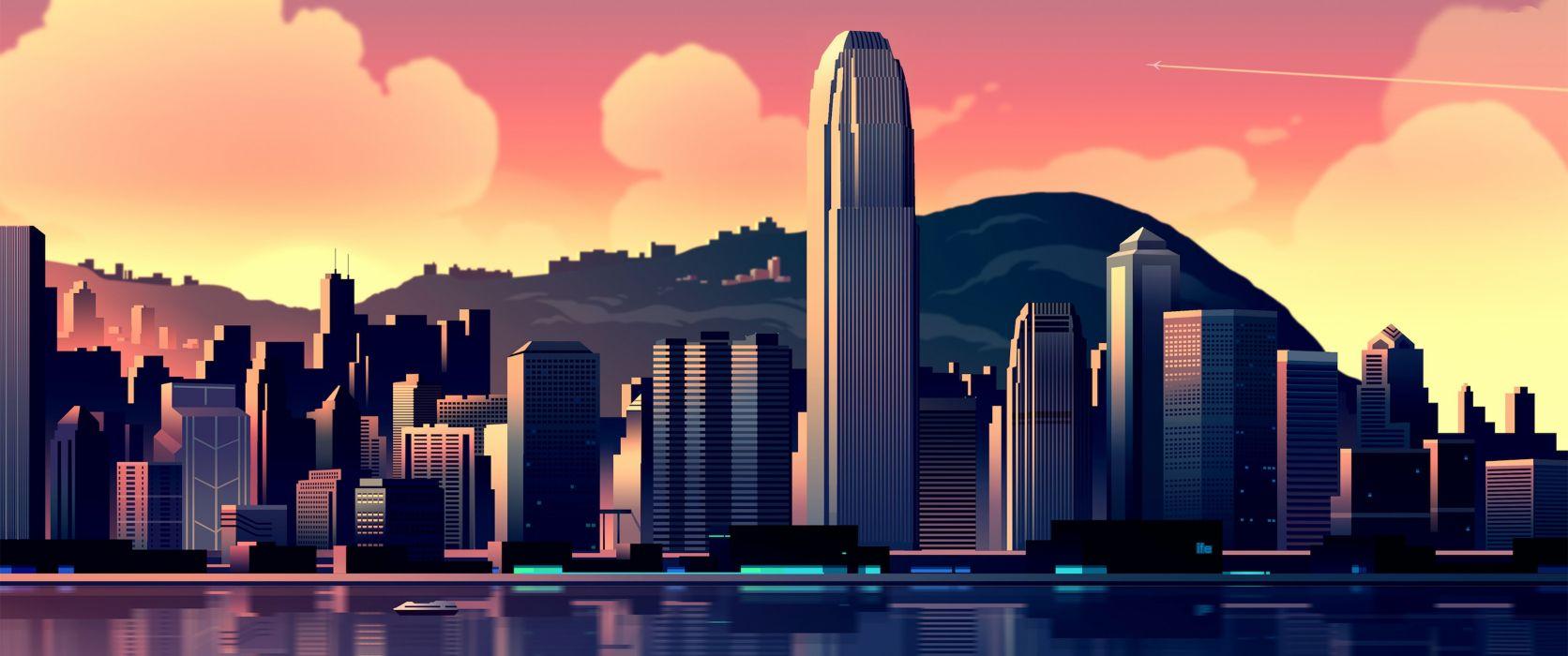abstracto vector ciudad wallpaper