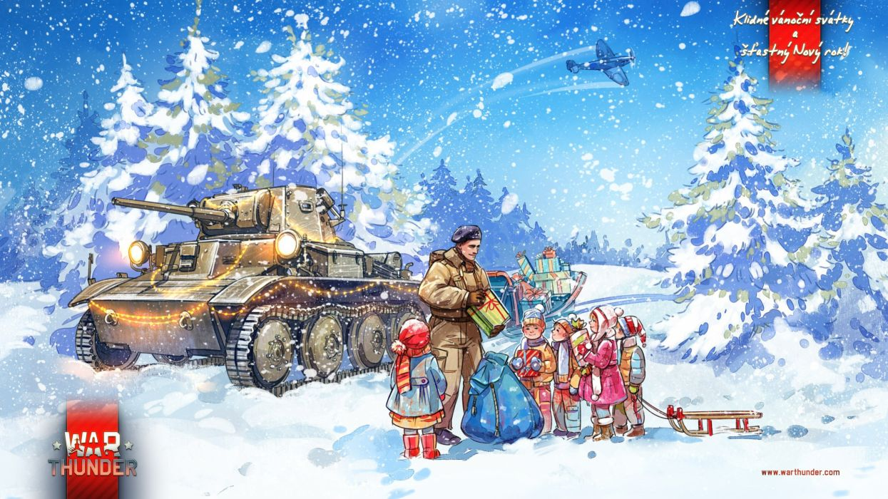 WAR THUNDER game video military war battle wwll air force fighter jet warplane plane aircraft action fighting combat flight simulator mmo online shooter weapon tank strategy christmas wallpaper