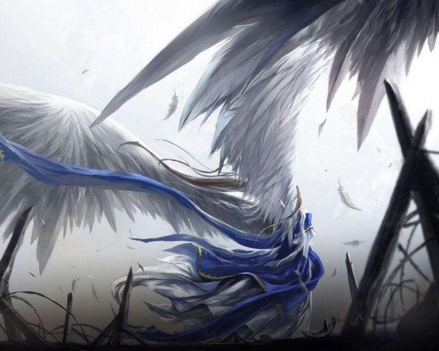 ah my goddess anime wings girl anime series wallpaper