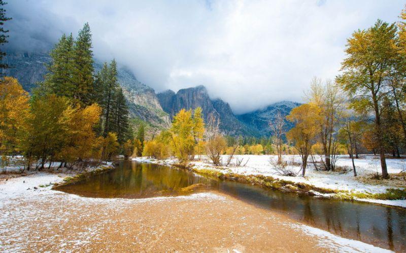 autumn river mountain nature landscape wallpaper