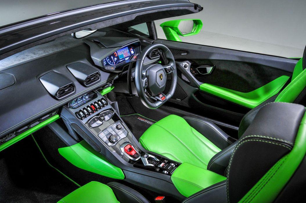 Lamborghini Huracan LP 610-4 Spyder green UK-spec cars 2016 wallpaper