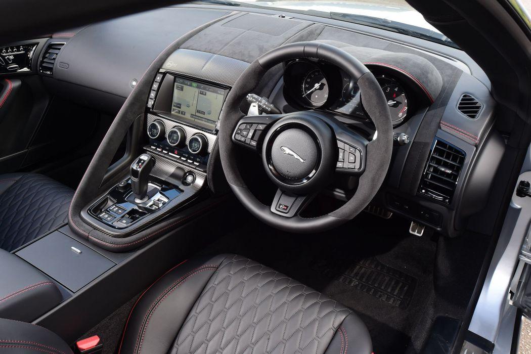 Jaguar F-Type SVR Coupe UK-spec cars silver 2016 wallpaper