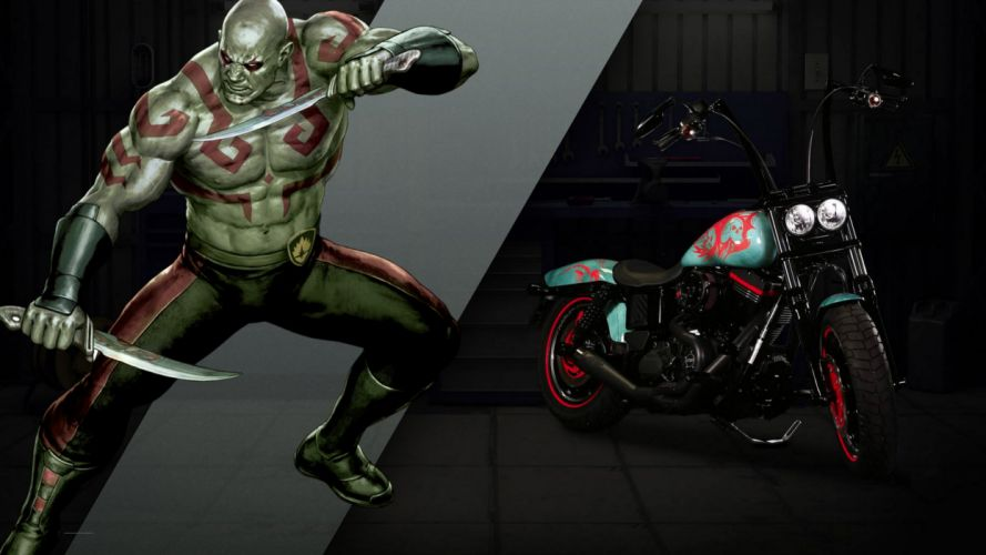 Harley-Davidson turned Marvel superheroes motorcycles concept 2016 wallpaper