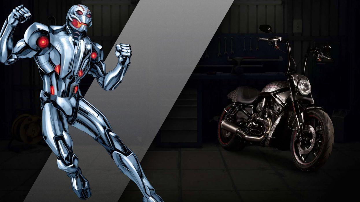 Harley-Davidson turned Marvel superheroes motorcycles concept 2016 wallpaper