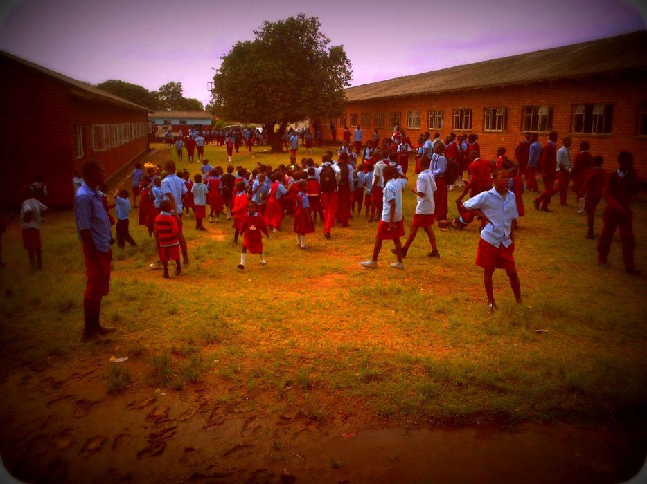 School Primary BreakTime Pupils GovernmentSchool Zambia Africa wallpaper