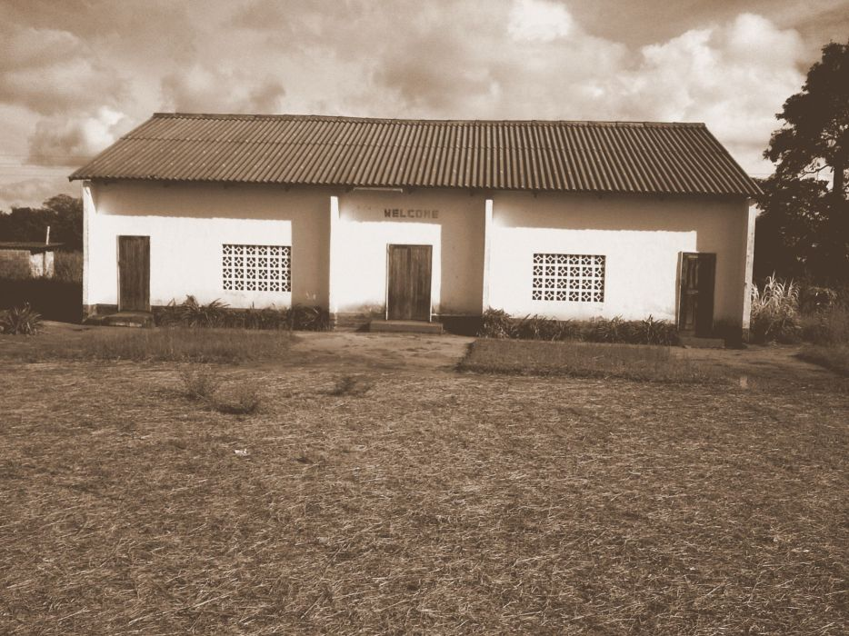 Small Old Church Clouds Zambia Africa wallpaper