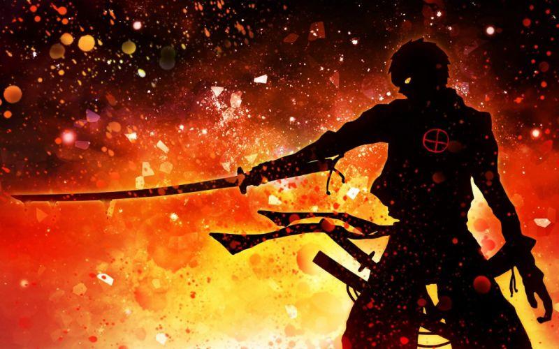 anime warrior boy sword wallpaper