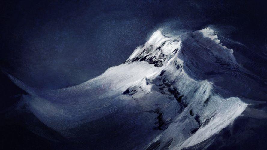 art background landscape snow top mountain wind atenebris wallpaper