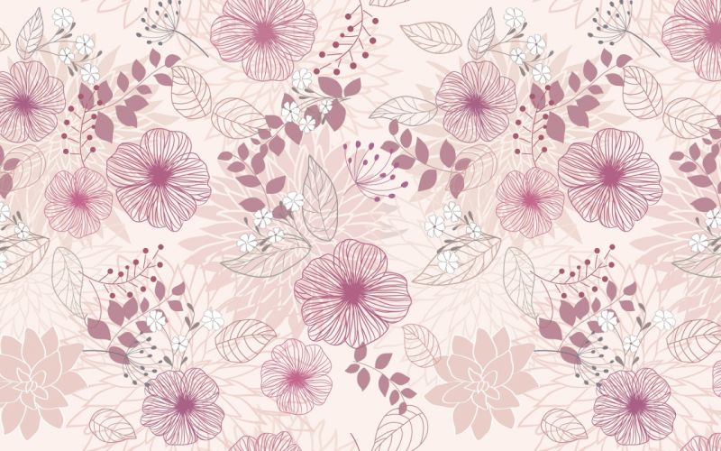 art pattern flower pink wallpaper