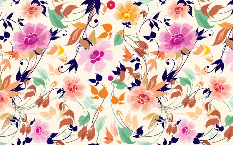art texture flowers wallpaper