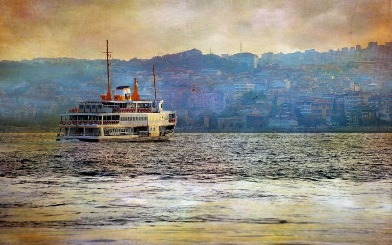 craft style background river istanbul turkey sea beauty wallpaper