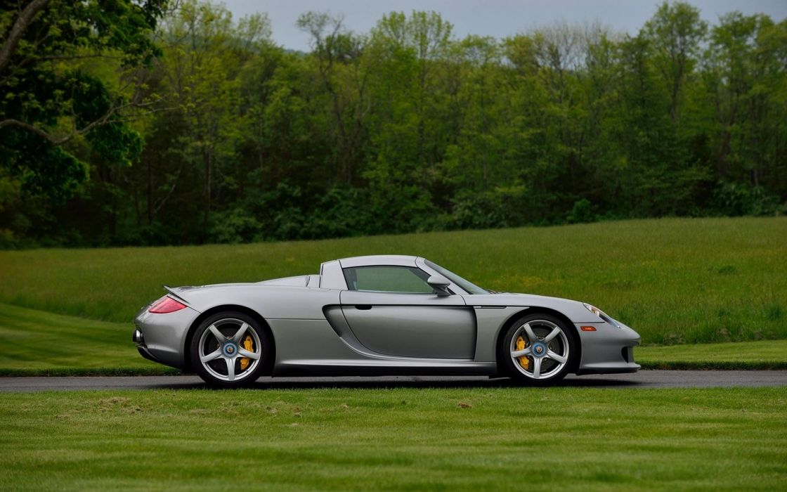 2004 Porsche Carrera GT Silver cars coupe wallpaper
