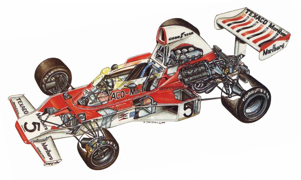 McLaren M23 1973 cars formula one cutaway wallpaper