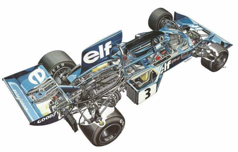 tyrrell 007 cars formula one cutaway wallpaper