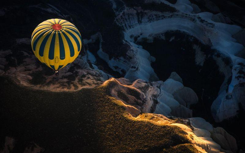 balloon sport mountain landscape sky wallpaper