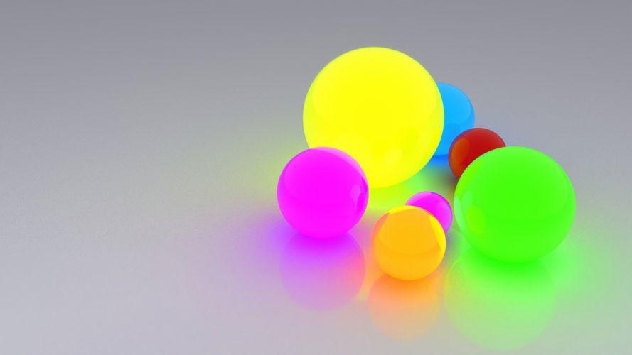 bright light reflection balls wallpaper
