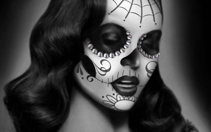 coloring girl black and white monochrome art wallpaper