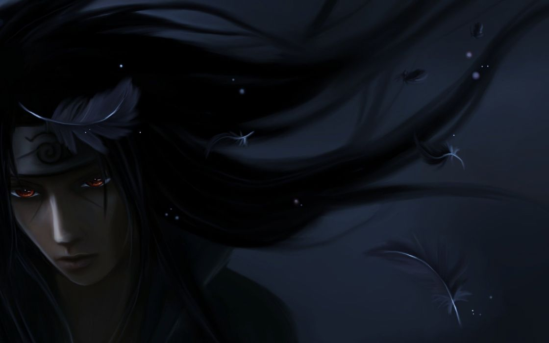 Dark Art Bandana Itachi Uchiha Naruto Feathers Guy Wallpaper 2560x1600 1016297 Wallpaperup