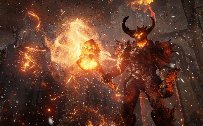 demon fantasy fire monster devil wallpaper