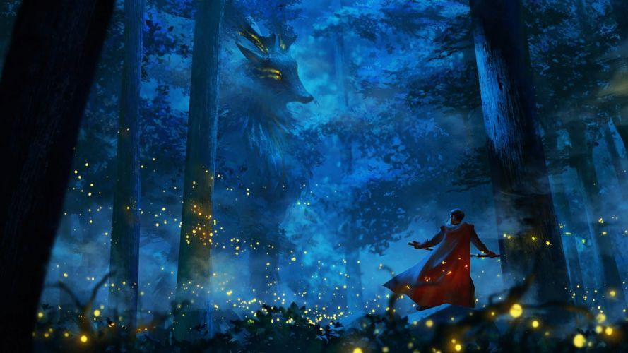 fantasia anime forest fantasy wallpaper