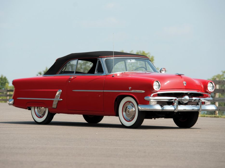 1953 Ford Crestline Sunliner Convertible cars red classic wallpaper