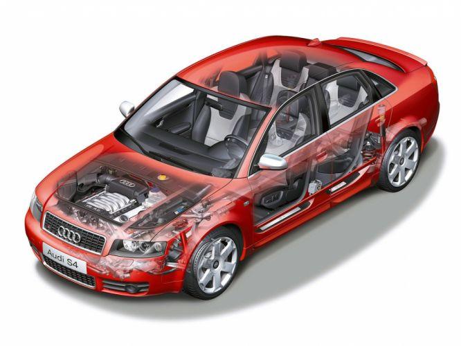 Audi S4 Sedan 2003 cars cutaway wallpaper