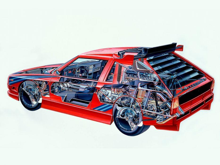 Lancia ECV Prototipo 1987 cars cutaway wallpaper