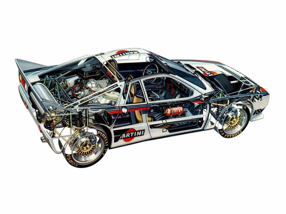 Lancia Rally 037 Group B 1983 cars cutaway wallpaper
