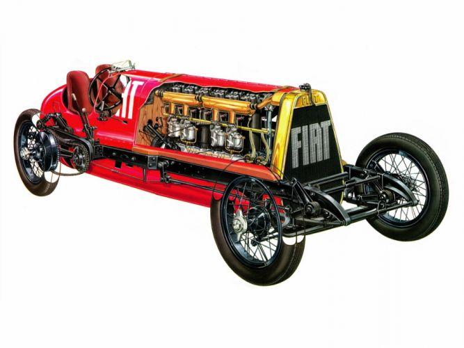 Fiat SB4 Eldridge Mefistofele cars cutaway 1924 wallpaper