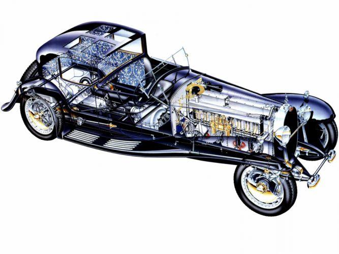 Bugatti Type 41 Royale Coupe Napoleon 1930 cars cutaway wallpaper