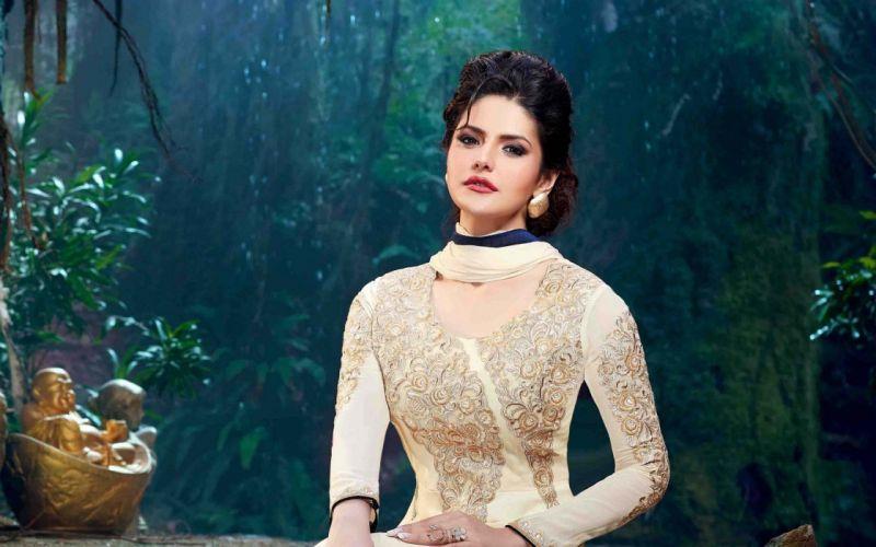 zareen khan bollywood actress model girl beautiful brunette pretty cute beauty sexy hot pose face eyes hair lips smile figure indian wallpaper