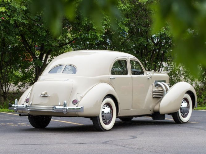 1937 Cord 812 Supercharged Custom Beverly Sedan Bustlback cars classic wallpaper